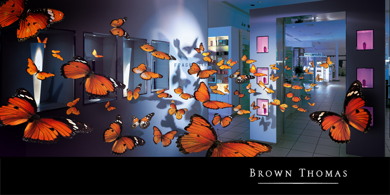 Brown Thomas butterfly ad